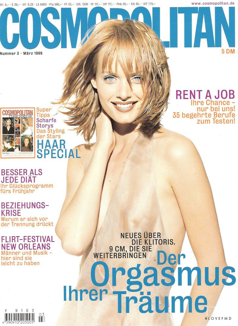 Amber Valletta featured on the Cosmopolitan Germany cover from March 1999