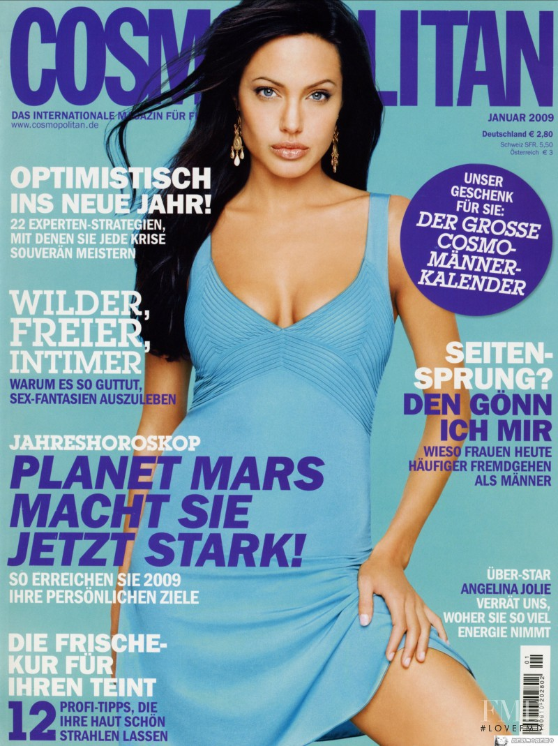 Angelina Jolie featured on the Cosmopolitan Germany cover from January 2009