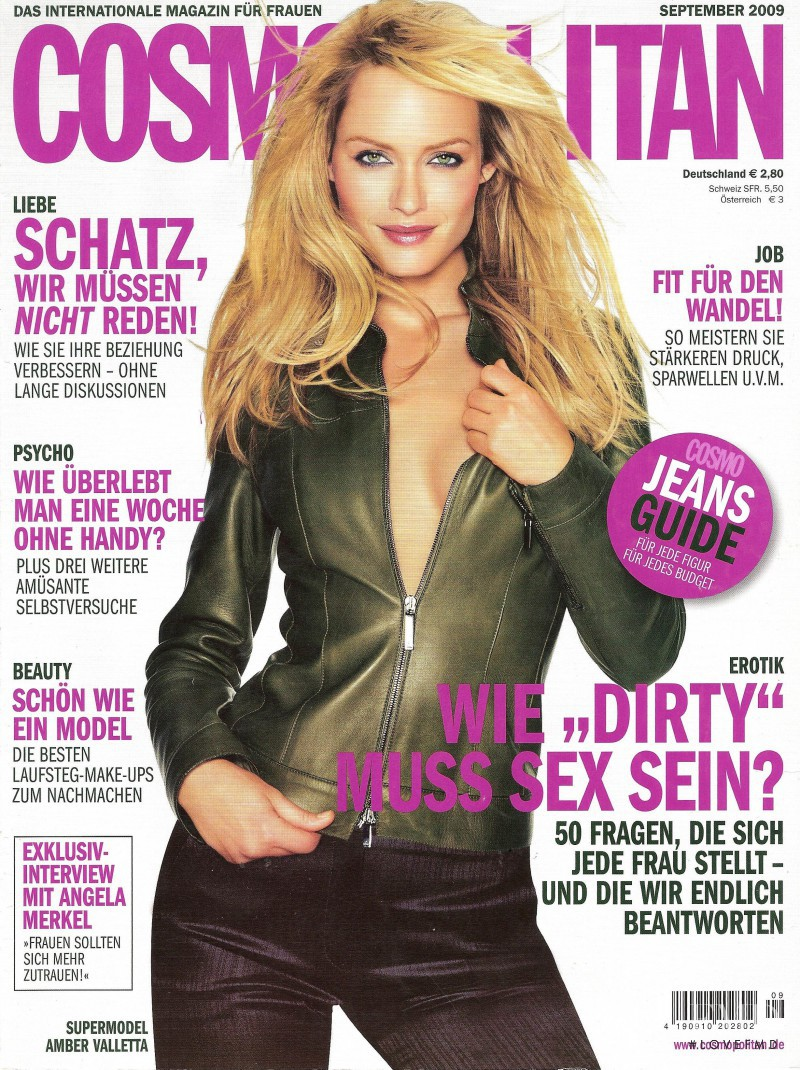 Amber Valletta featured on the Cosmopolitan Germany cover from September 2009