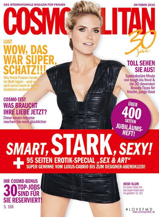 Heidi Klum featured on the Cosmopolitan Germany cover from October 2010