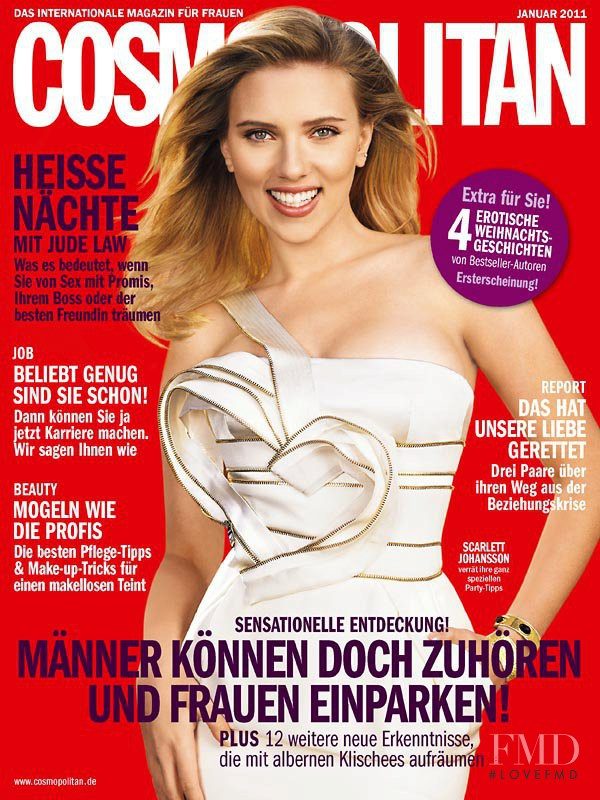 Scarlett Johansson featured on the Cosmopolitan Germany cover from January 2011