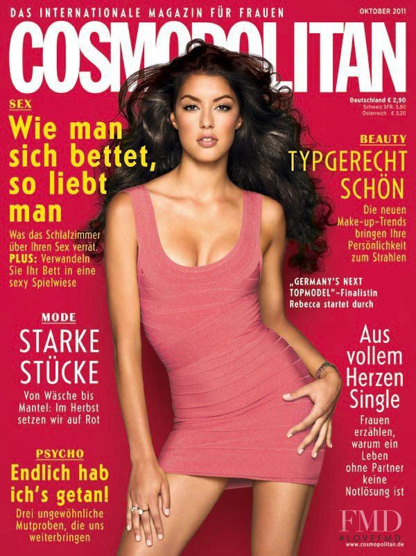 Rebecca Mir featured on the Cosmopolitan Germany cover from October 2011