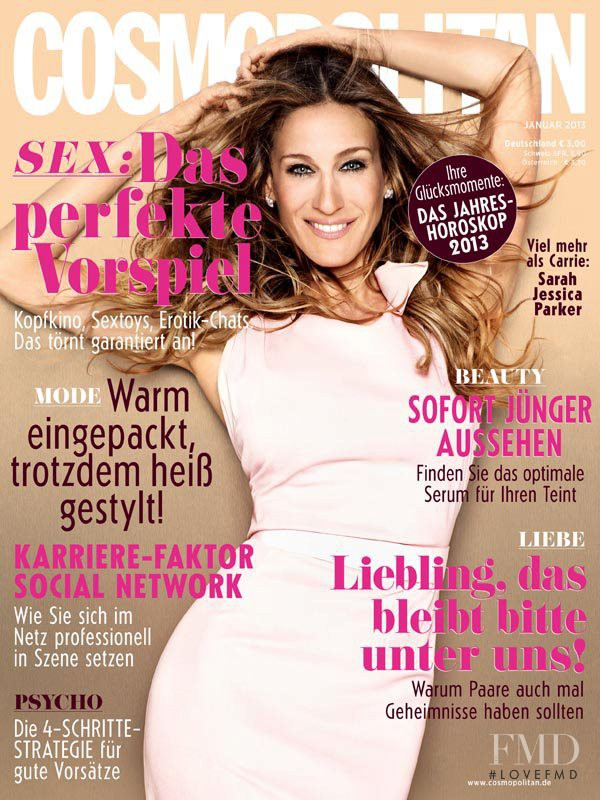Sarah Jessica Parker featured on the Cosmopolitan Germany cover from January 2013
