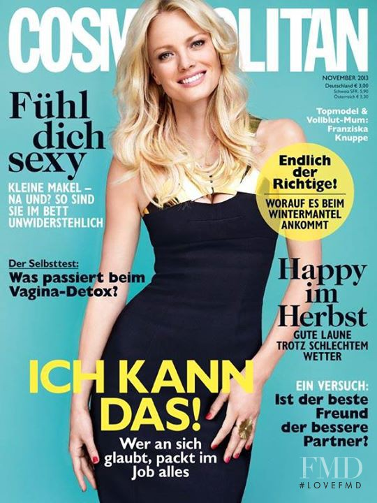 Franziska Knuppe featured on the Cosmopolitan Germany cover from November 2013