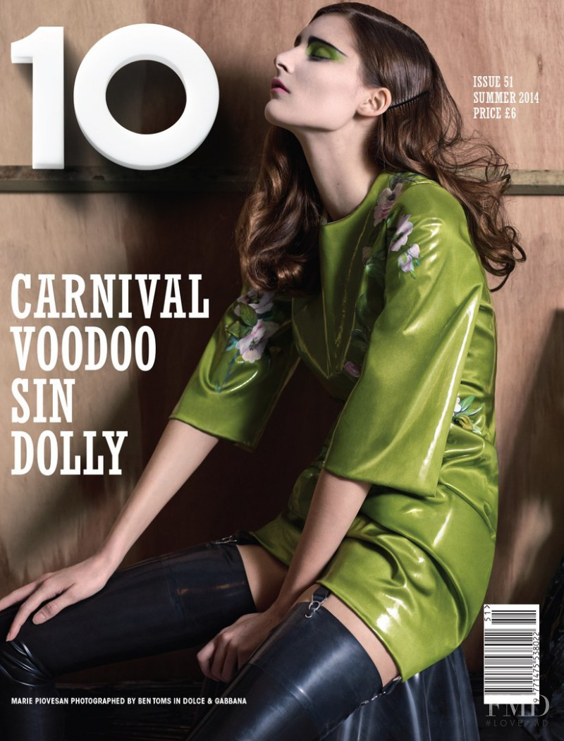 Marie Piovesan featured on the 10 Magazine cover from June 2014