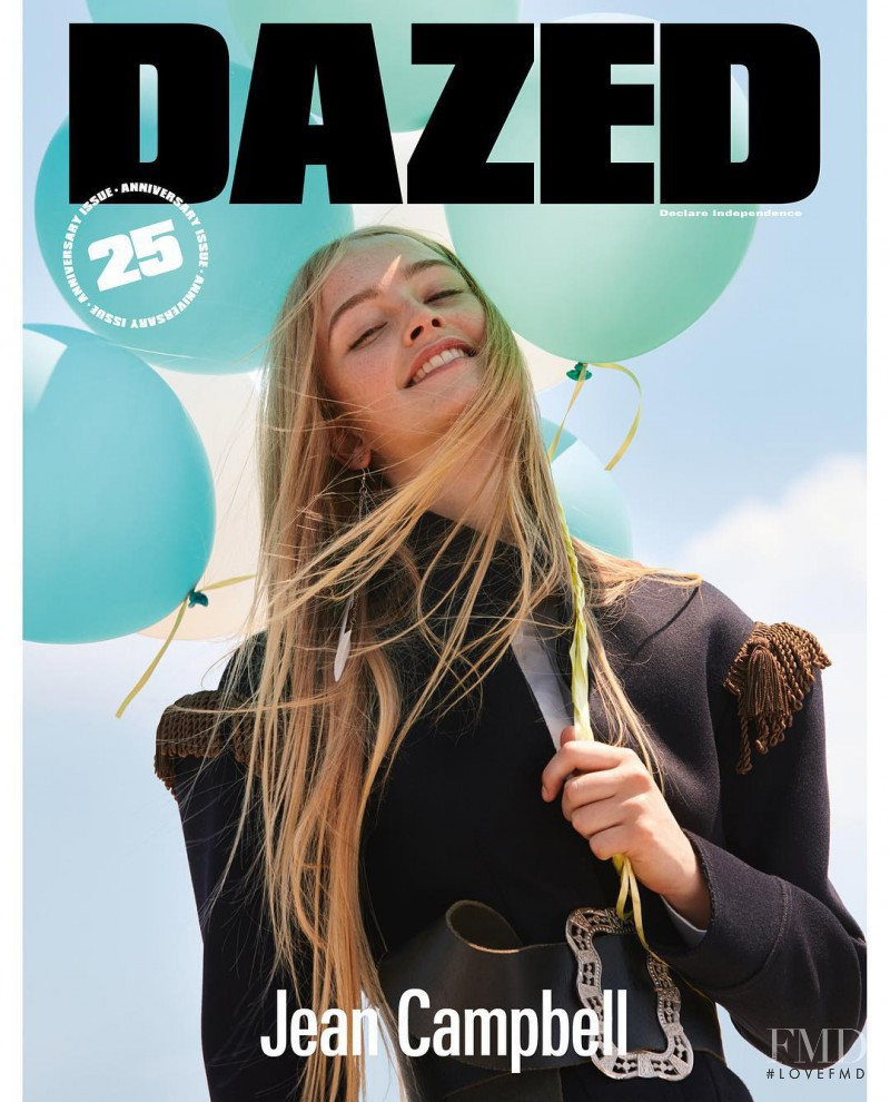 Jean Campbell featured on the Dazed cover from September 2016