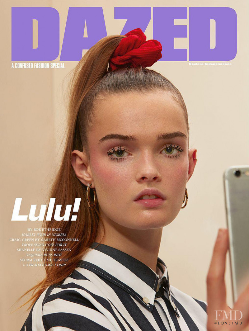 Lulu Tenney featured on the Dazed cover from February 2018