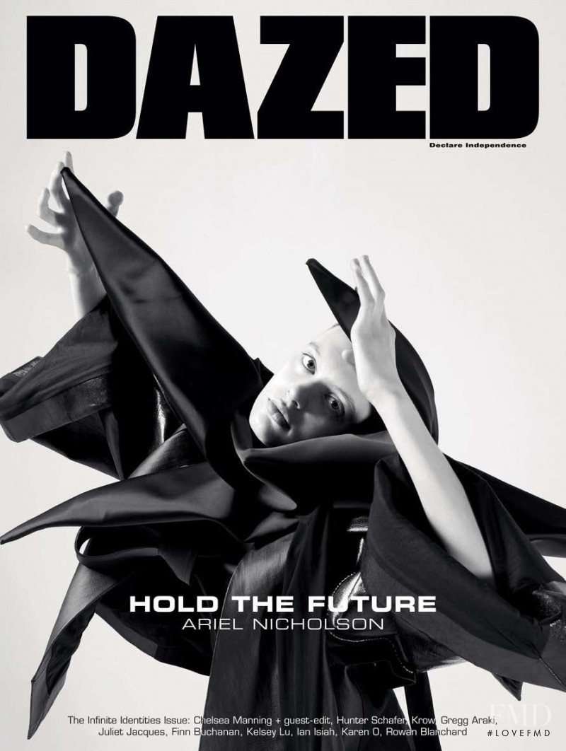 Ariel Nicholson featured on the Dazed cover from February 2019