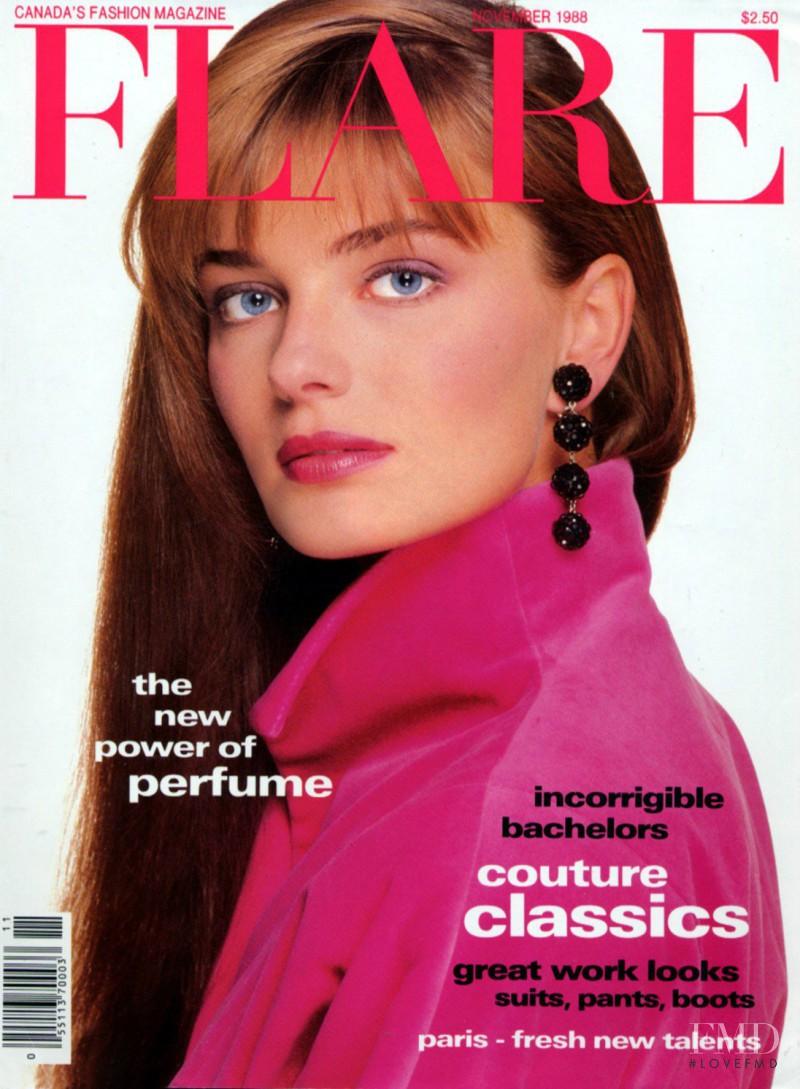Paulina Porizkova featured on the Flare Canada cover from November 1988