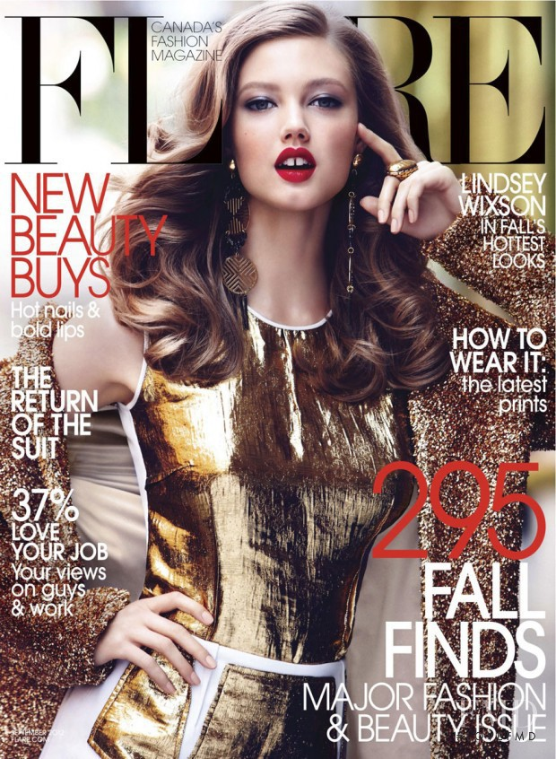 Lindsey Wixson featured on the Flare Canada cover from September 2012