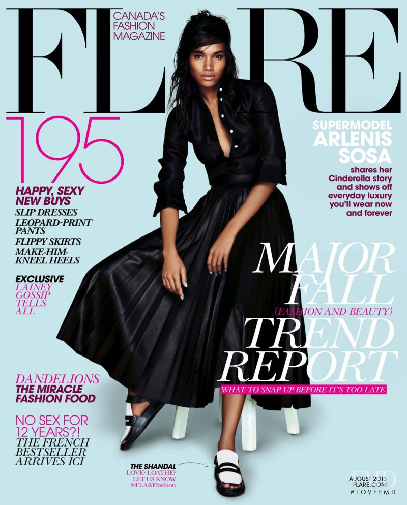 Arlenis Sosa featured on the Flare Canada cover from August 2013