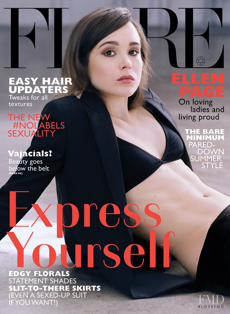Ellen Page featured on the Flare Canada cover from June 2014