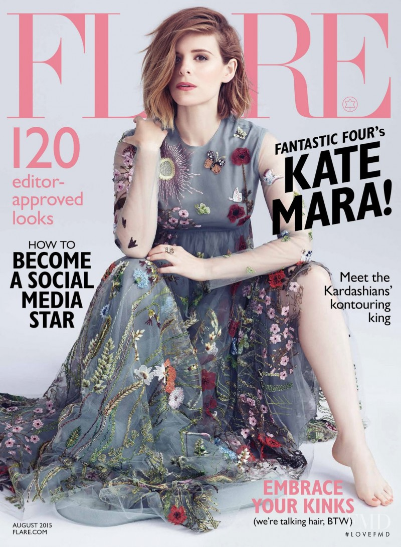 Kate Mara featured on the Flare Canada cover from August 2015