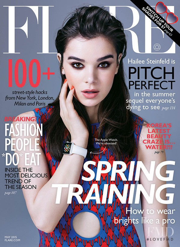 Hailee Steinfeld featured on the Flare Canada cover from May 2015