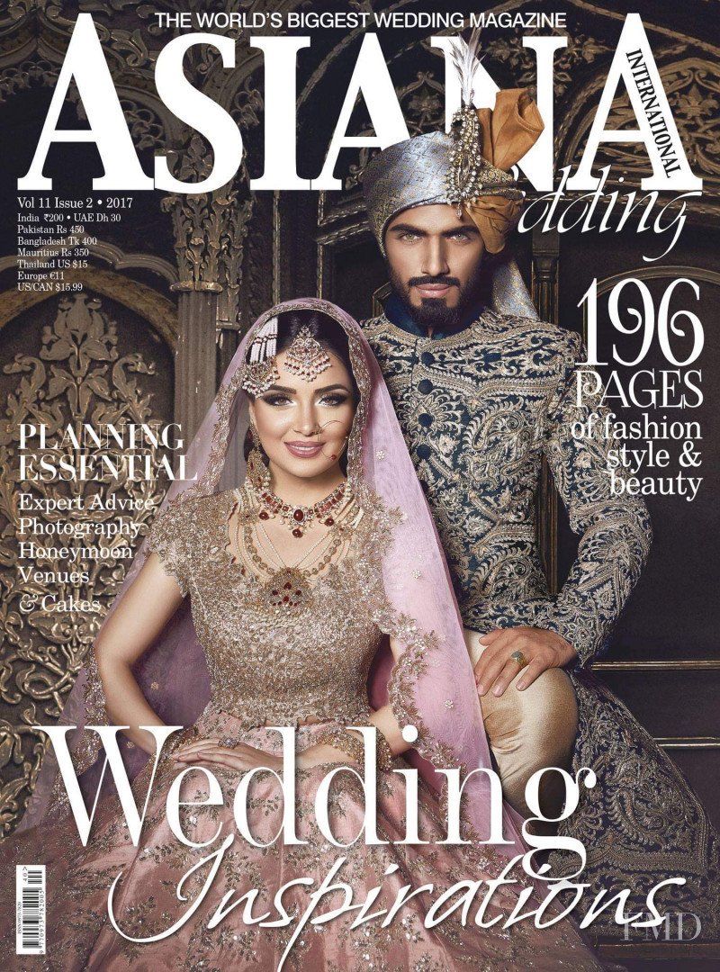 Armeena Rana Khan featured on the Asiana Wedding International cover from December 2017