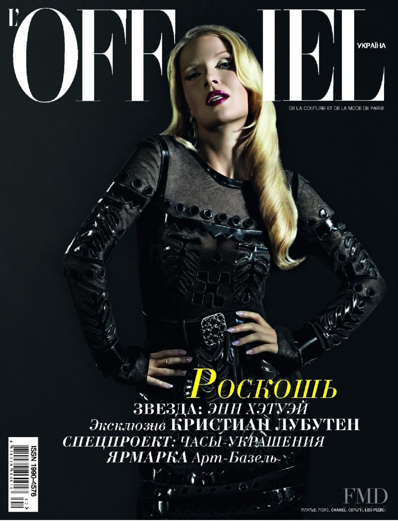 featured on the L\'Officiel Ukraine cover from October 2008