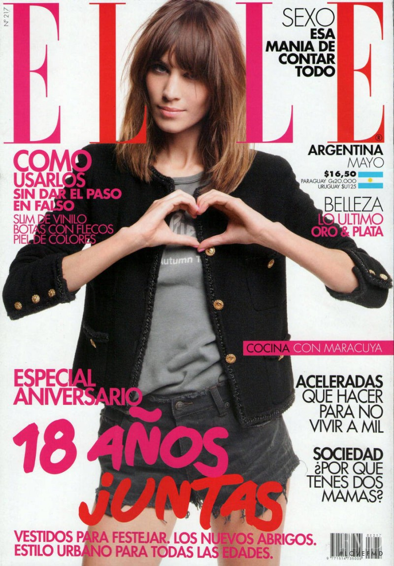Alexa Chung featured on the Elle Argentina cover from May 2012