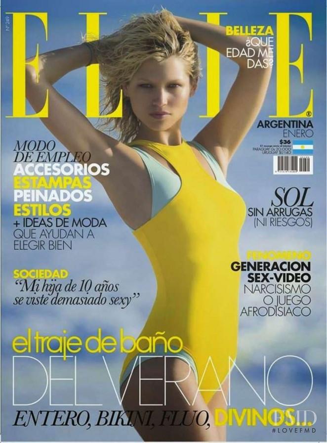 Hana Jirickova featured on the Elle Argentina cover from January 2015