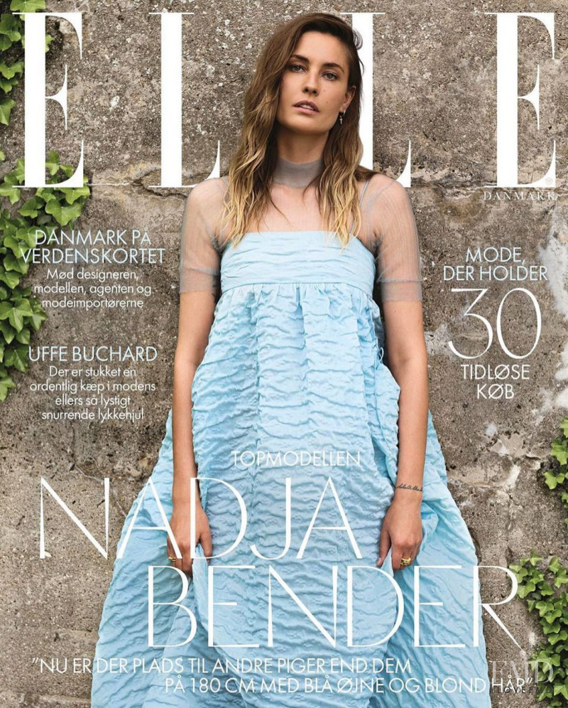 Nadja Bender featured on the Elle Denmark cover from September 2020