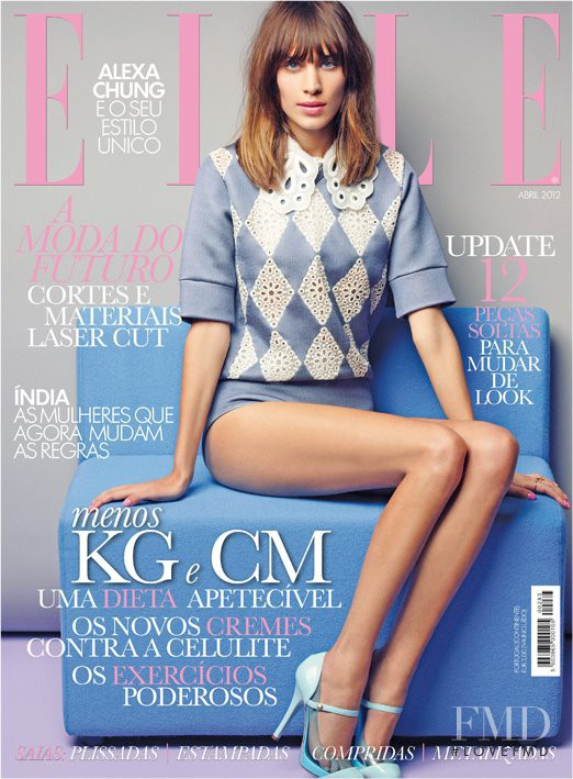 Alexa Chung featured on the Elle Portugal cover from April 2012