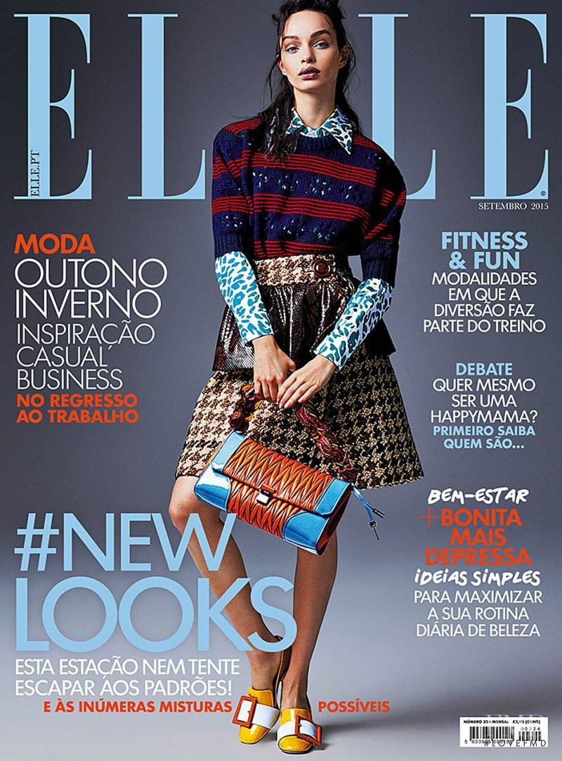 Luma Grothe featured on the Elle Portugal cover from September 2015