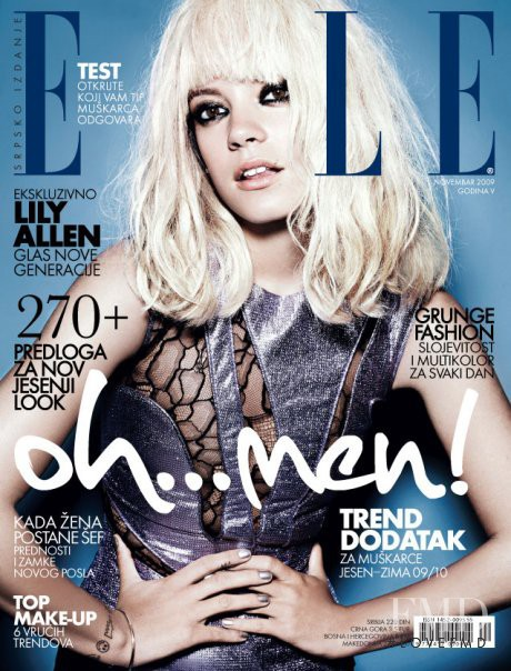 Lily Allen featured on the Elle Serbia cover from November 2009