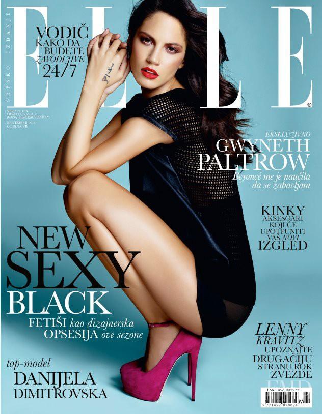 Danijela Dimitrovska featured on the Elle Serbia cover from November 2011