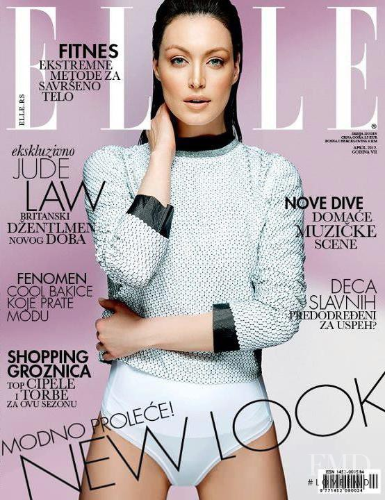 Tijana Sarenac featured on the Elle Serbia cover from April 2012
