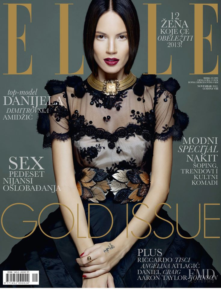 Danijela Dimitrovska featured on the Elle Serbia cover from November 2012