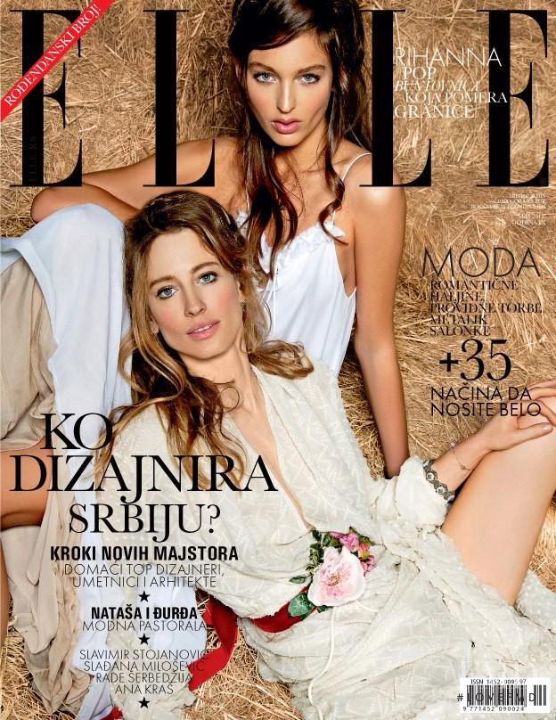 Natasa Vojnovic, Georgina Stojiljkovic featured on the Elle Serbia cover from May 2013