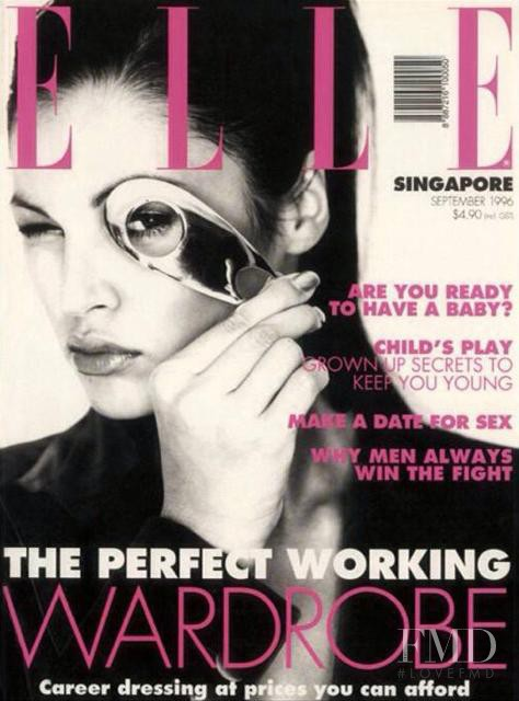 featured on the Elle Singapore cover from September 1996