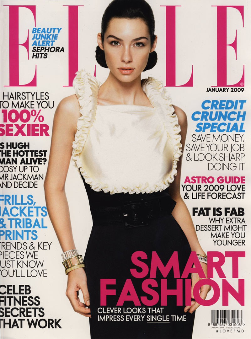 Emily Wilson featured on the Elle Singapore cover from January 2009