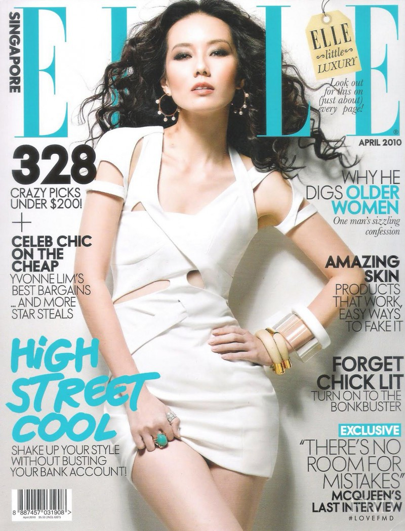 featured on the Elle Singapore cover from April 2010