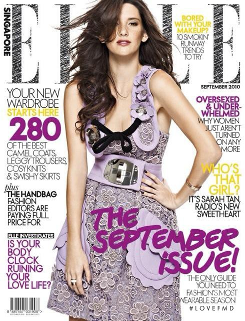 Sarah Tan featured on the Elle Singapore cover from September 2010