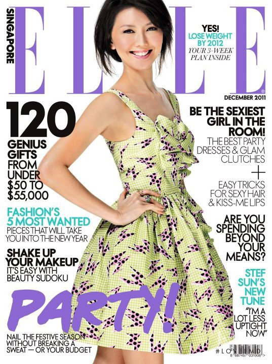 featured on the Elle Singapore cover from December 2011