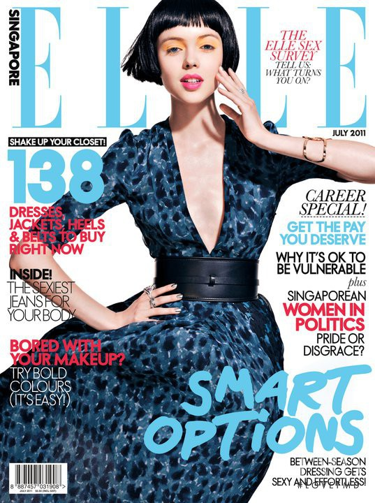 Ksenia Vasylchenko featured on the Elle Singapore cover from July 2011