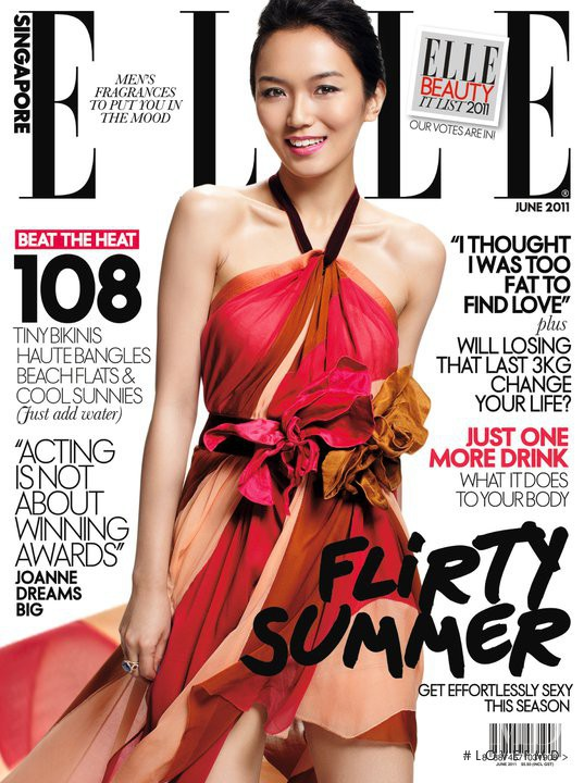 featured on the Elle Singapore cover from June 2011