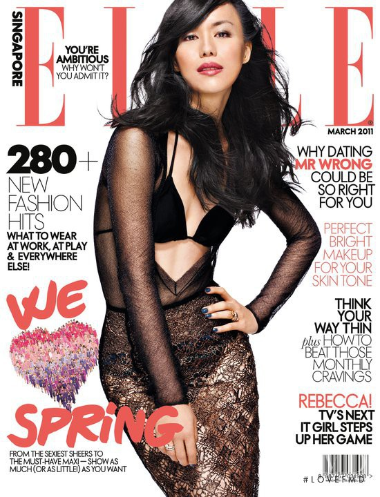featured on the Elle Singapore cover from March 2011