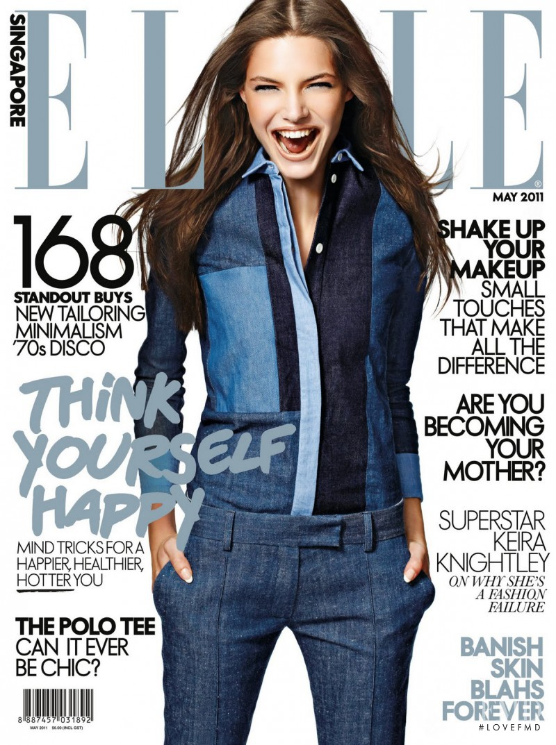 Dorothy Bohner featured on the Elle Singapore cover from May 2011