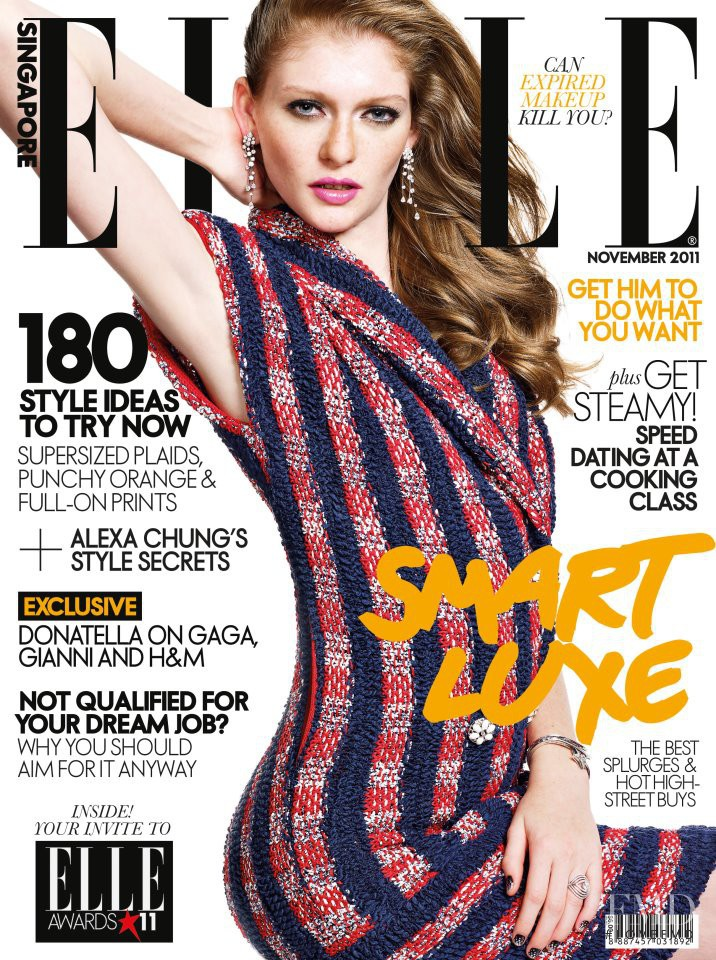 Natalie Keyser featured on the Elle Singapore cover from November 2011