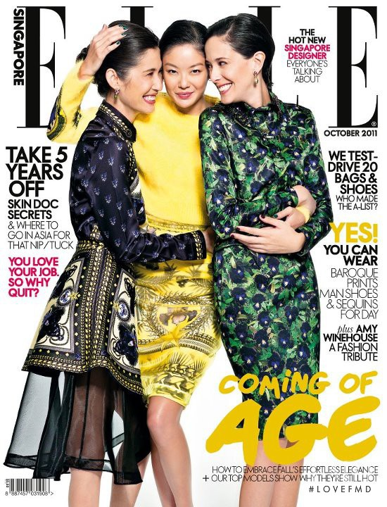 featured on the Elle Singapore cover from October 2011