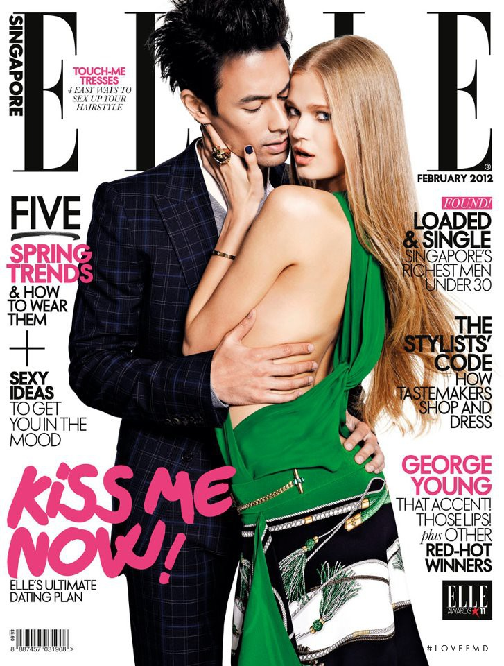 Daniel Young featured on the Elle Singapore cover from February 2012