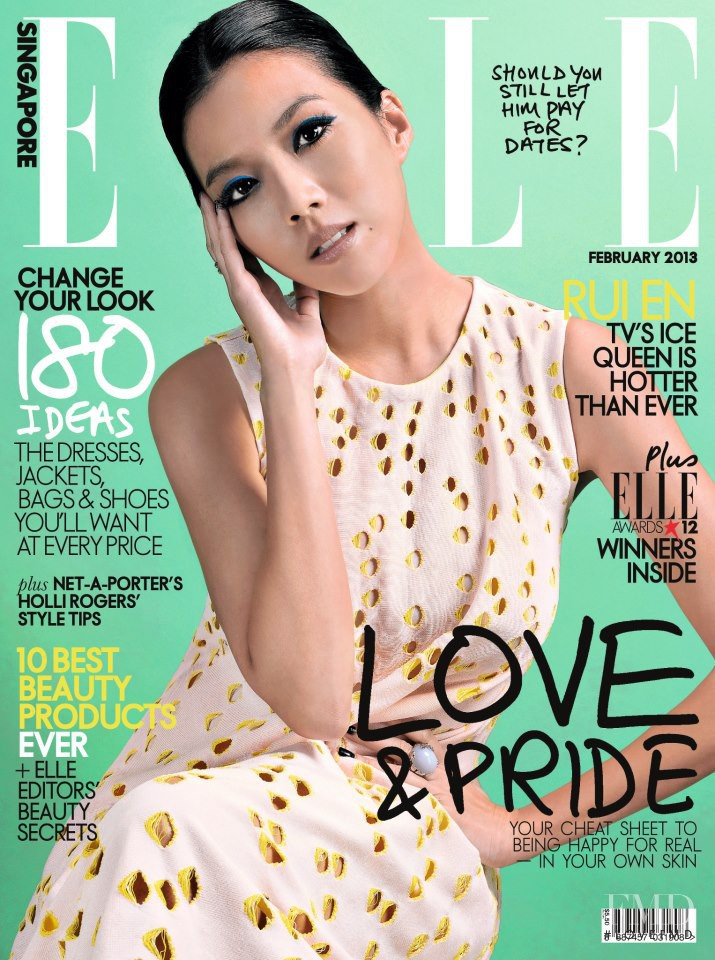 featured on the Elle Singapore cover from February 2013