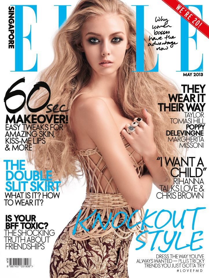 Sveta Maltseva featured on the Elle Singapore cover from May 2013
