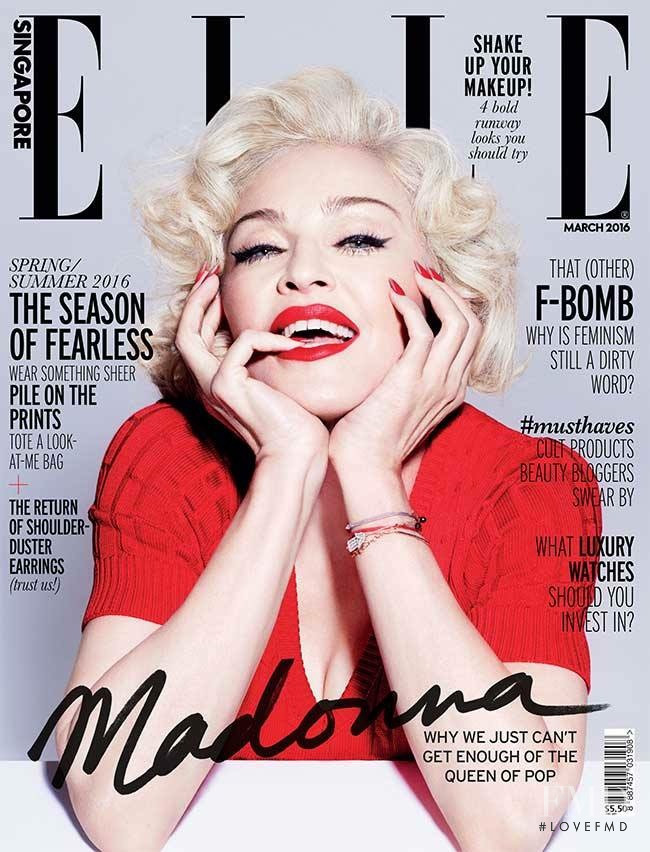 Madonna featured on the Elle Singapore cover from March 2016