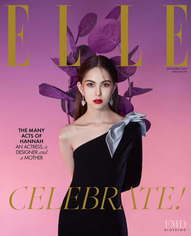 Hannah Quinlivan featured on the Elle Singapore cover from December 2019