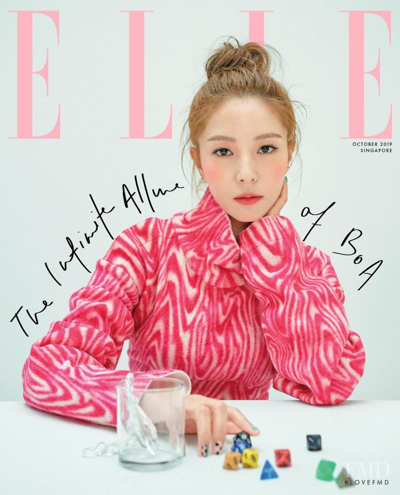 featured on the Elle Singapore cover from October 2019
