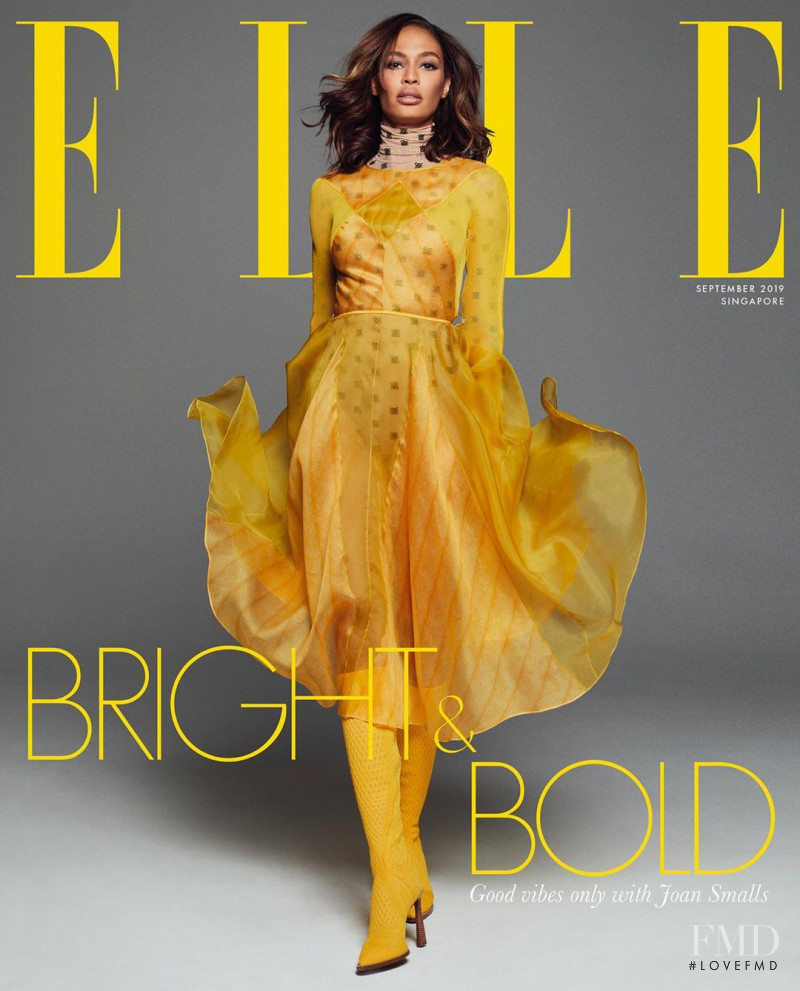 Joan Smalls featured on the Elle Singapore cover from September 2019