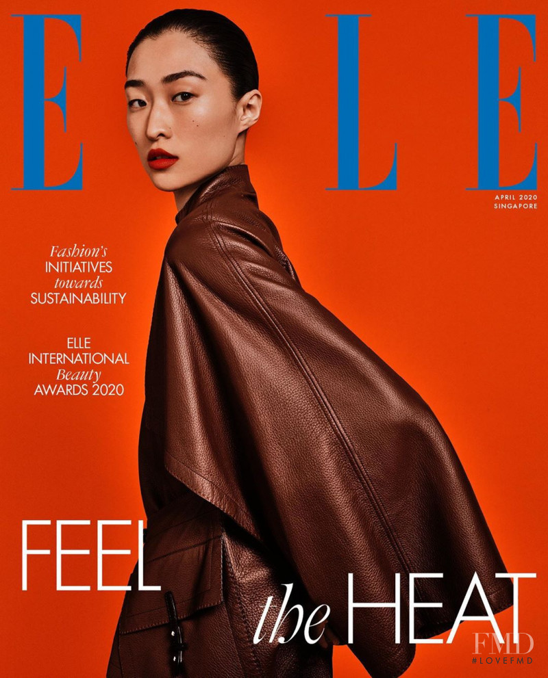 Chu Wong featured on the Elle Singapore cover from April 2020