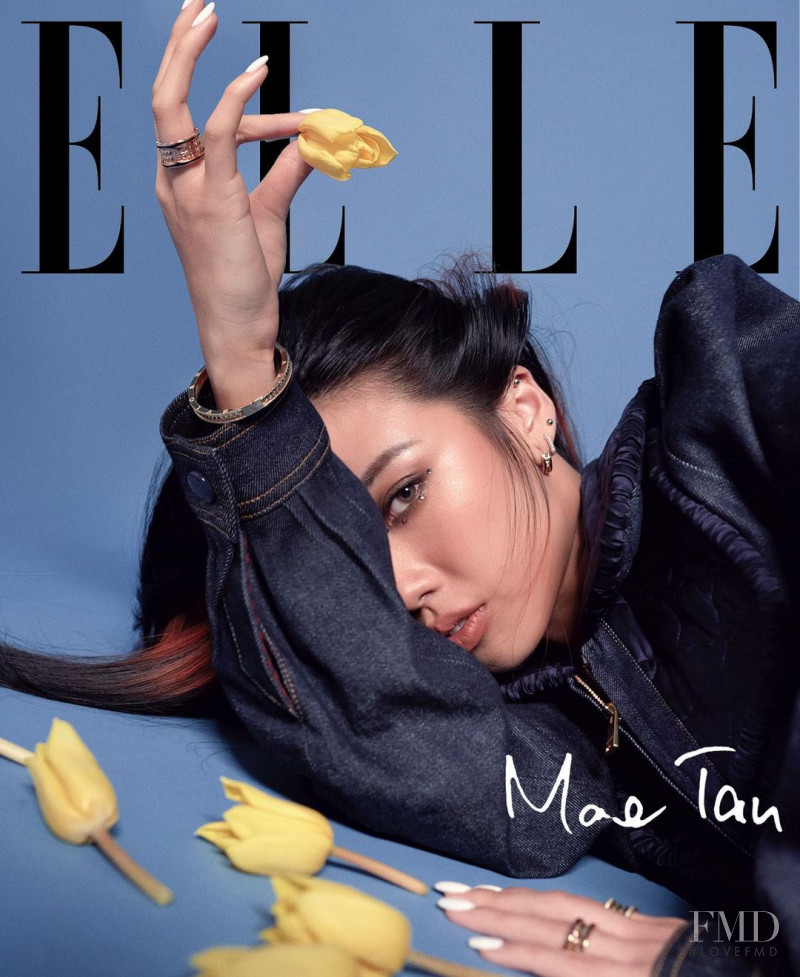 Mae Tan  featured on the Elle Singapore cover from August 2020